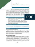 IFC's Performance Standard 1