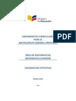 Lineamientos Curriculares Matematica Superior 3BGU 300913