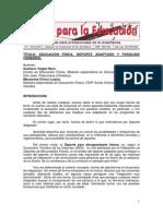 EDUCACIÓN FÍSICA, DEPORTE ADAPTADO Y PARÁLISIS