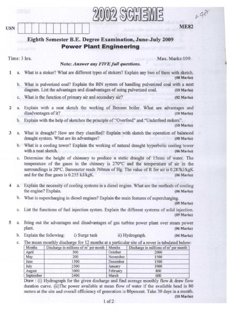 Power Plant Question Boiler Station Diesel Engine Diagram