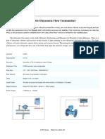EU-106 smart ultrasonic flow meter