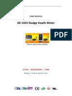 User Manual of Ultrasonic Sludge Interface Depth Level Meter