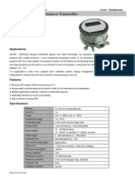 GE-923 Air Differential Pressure Transmitter with LCD screen