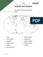 Continente Si Oceane Harta Muta