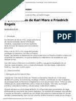 O pensamento de Karl Marx e Friedrich Engels __ PCB _ O Partido do Século 21