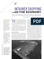 Container Shipping and the Us Economy