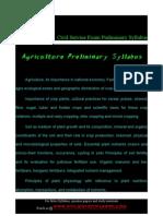 Agriculture Preliminary Syllabus