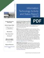 August 2009 Status Report