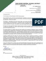 Cohen Letter to SWR lacrosse team