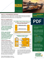 Containerized Shipping Marketing Brochure