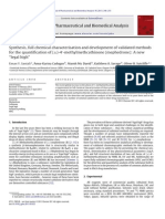 Synthesis Full Chemical Characterisation and Development of Validated Methods for the Quantification of Mephedrone