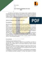Estatutos Centro de Estudiantes de Letras UC 2013