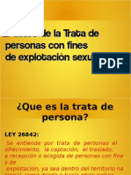 Trata de Personas Power Point