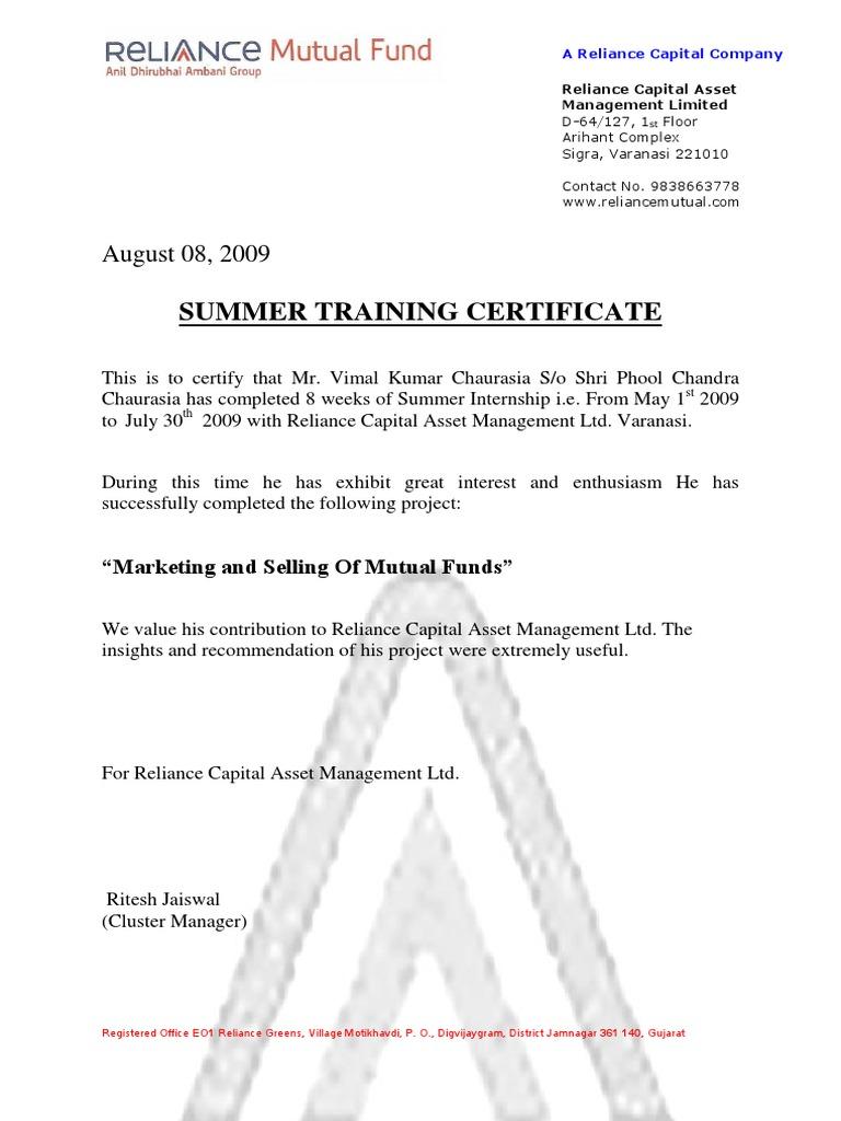 Summer training certificate spiritdancerdesigns Gallery