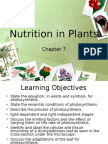 Pure Biology Chapter 7 Nutrition in Plants