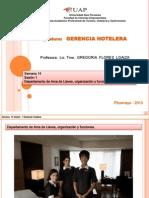 Gerencia Hotelera Semana 14 Sesión 1