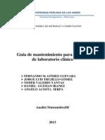 Manual de Mantenimiento Para Equipo de Laboratorio