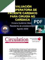 Preoperatorio Cardiaco Para Cirugia No Cardiaca Vivi