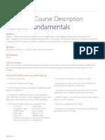 Tableau Fundamentals Course Description