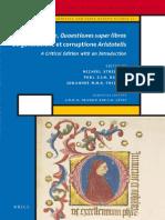 Chiel StreijgerPaul J.J.M. BakkerJohannes M.M.H. Thijssen John Buridan Quaestiones Super Libros de Generatione Et Corruptione Aristotelis 2010