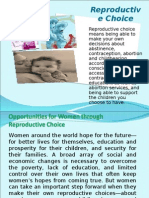 Reproductive Choice