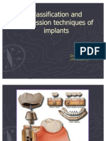 Classification and Impression Techniques of Implants
