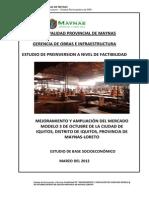 MUNICIPALIDAD DE MAYNAS -MEJORAMIENTO Y AMPLIACIÓN DEL MERCADO MODELO 3 DE OCTUBRE DE LA CIUDAD DE IQUITOS