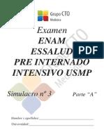Simulacro ENAM 2013 - 3A