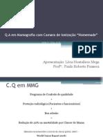 """Q.A em Mamografia com Camara de Ionização """"Homemade"""""""
