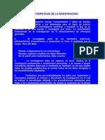 CARACTERÍSTICAS DE LA INVESTIGACIÓN (2)