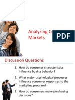 Analysing Consumer Behaviour