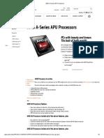 AMD a-Series APU Processors