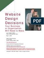 Designval av hemsida
