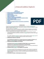 Procedimientos y técnicas de auditoria.