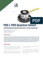 KippZonen Brochure PQS1 PAR Quantum Sensor V1303