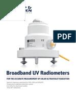 KippZonen Brochure UV Radiometers V1101