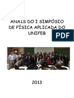 Anais do I Simpósio de Física Aplicada do Unifeb