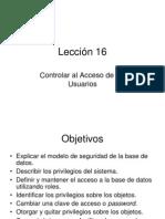 DCL - Control de Acceso