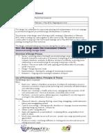 FFS Design Cover Sheet