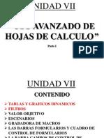 Unidad 7 - Uso Avanzado de Hojas de Calculo - Parte 1