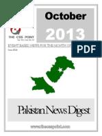 PAKISTAN NEWS DIGEST OCTOBER - 2013
