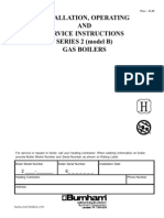 Burnham Corp Nstallation Operating and Service Instructions Gas Boilers Series 2 Model b for Burnham Series 2 Boiler