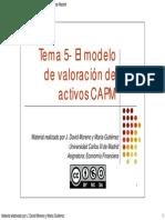 Tema 5_el Modelo de Valoracion de Activos CAPM