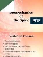 Bio Mechanics of Spinal Column