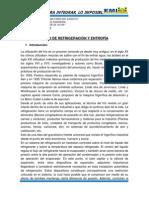 INFORME REF. CICLO DE REFRIGERACIÓN Y  ENTROPÍA