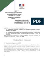 Vademecum Eiffel 2014-2015