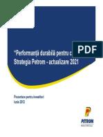 strategia petrom 2021
