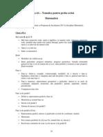 Anexa 4a Tematica Proba Scrisa Matematica Admitere 2013