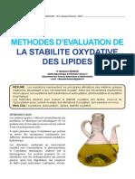 Oxydation Des Lipides