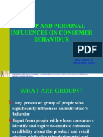 Group and Personal Influences on Consumer Behaviour
